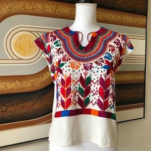 Vintage Hand Embroidered Mexican Top